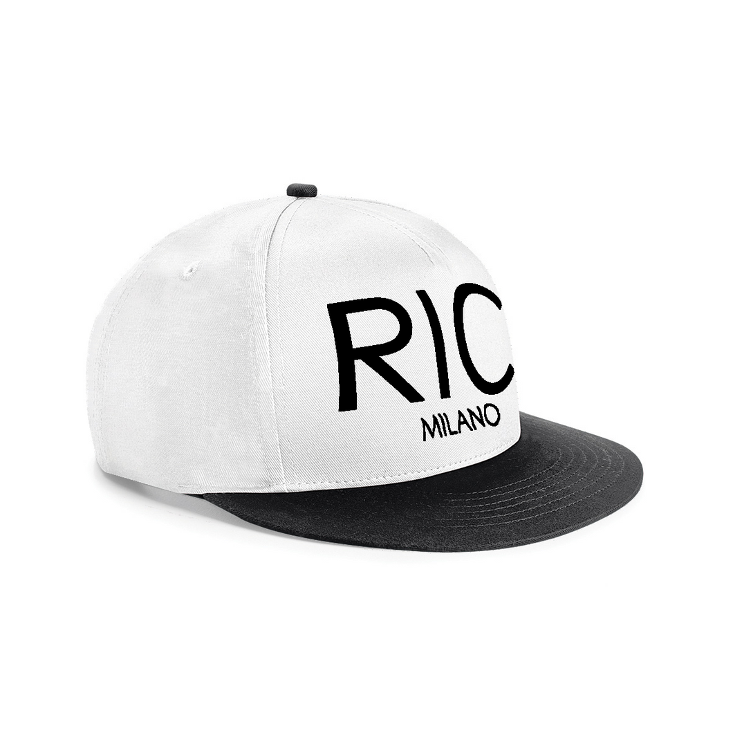 RIC MILANO EMBROIDERED Snapback Cap White