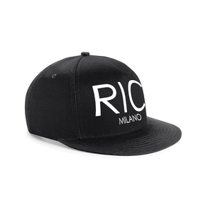 RIC MILANO EMBROIDERED Snapback Cap Black