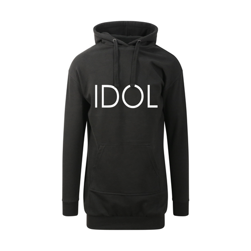 IDOL PRINTED Hoodie Dress Black