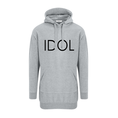 IDOL PRINTED Hoodie Dress Grey