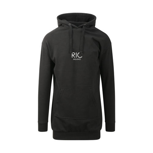 RIC MILANO EMBROIDERED Hoodie Dress Black
