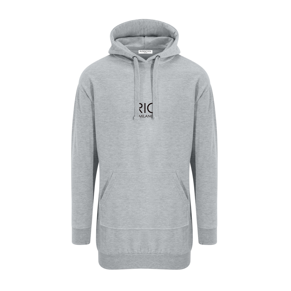 RIC MILANO EMBROIDERED Hoodie Dress Grey
