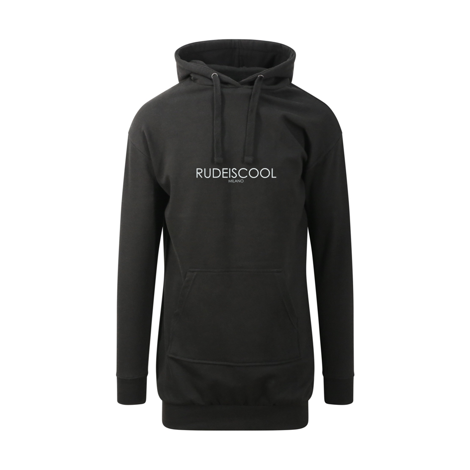 RUDEISCOOL EMBROIDERED Hoodie Dress Black