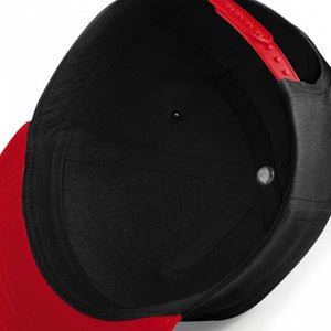 COOL EMBROIDERED Snapback Cap Black With Red Visor