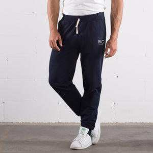 RIC MILANO EMBROIDERED Joggers Blue