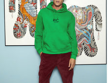 Load image into Gallery viewer, RIC MILANO EMBROIDERED Hoodie Green