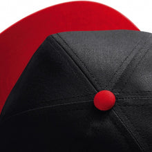 Load image into Gallery viewer, IDOL EMBROIDERED Snapback Cap Black With Red Visor