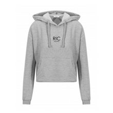 Load image into Gallery viewer, RIC MILANO EMBROIDERED Cropped Hoodie Grey