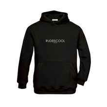 Load image into Gallery viewer, RUDEISCOOL EMBROIDERED Hoodie Black