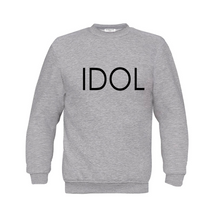 Load image into Gallery viewer, IDOL PRINTED Sweatshirt Grey
