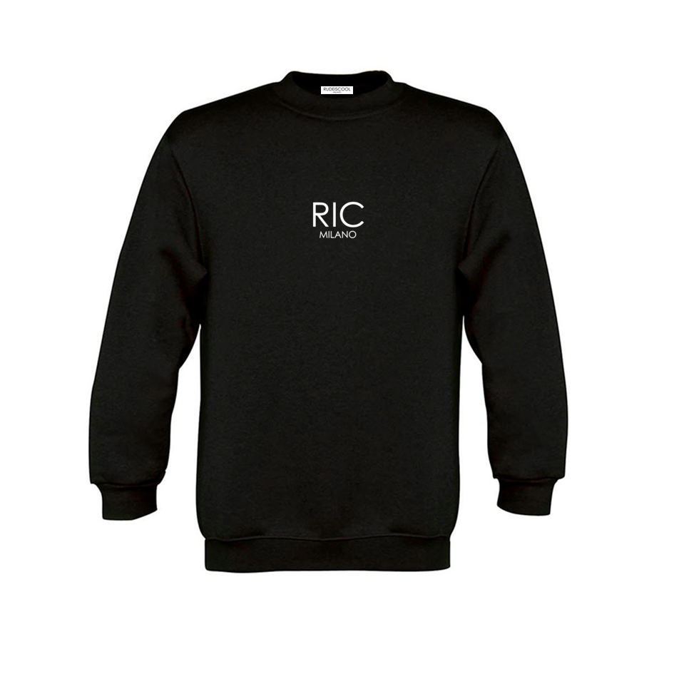 RIC MILANO EMBROIDERED Sweatshirt Black