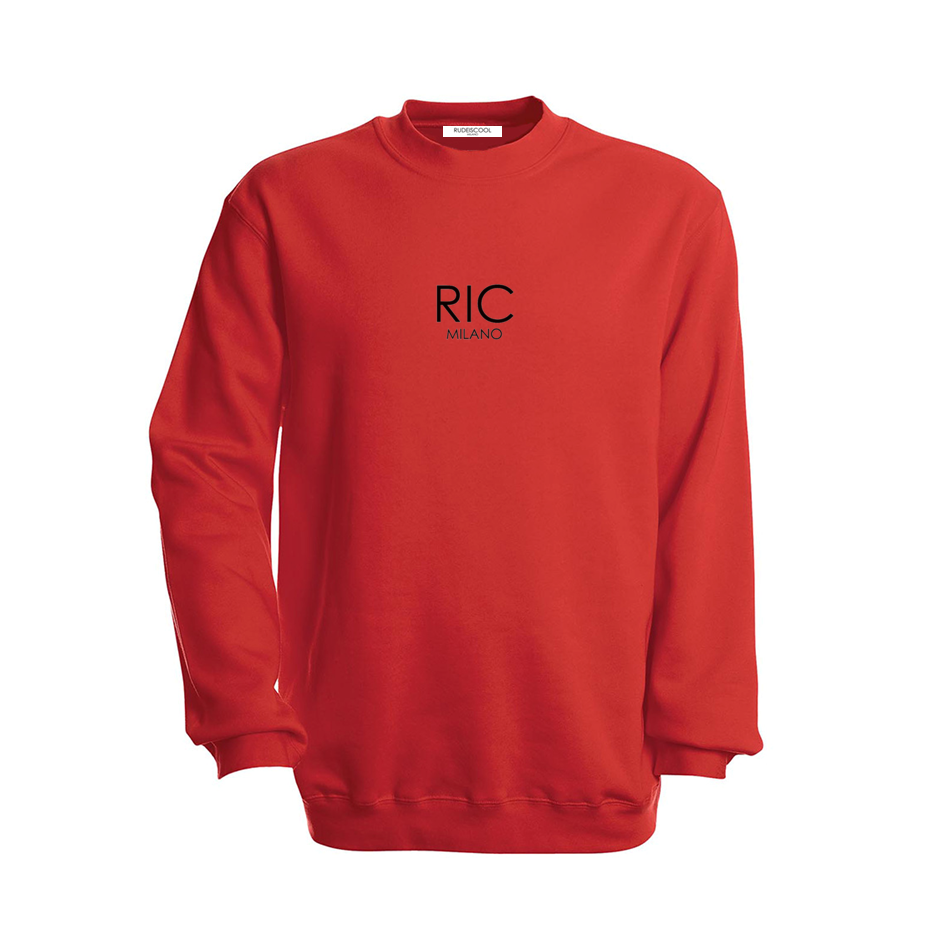 RIC MILANO EMBROIDERED Sweatshirt Red