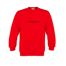 Load image into Gallery viewer, RUDEISCOOL EMBROIDERED Sweatshirt Red