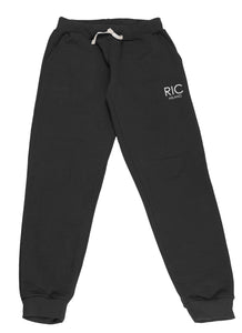 RIC MILANO EMBROIDERED Joggers Black