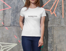 Load image into Gallery viewer, RUDEISCOOL PRINTED T-shirt White