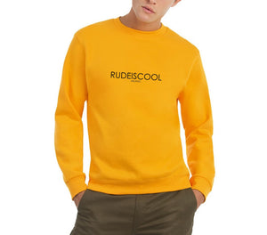 RUDEISCOOL EMBROIDERED Sweatshirt Yellow