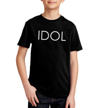 Load image into Gallery viewer, IDOL PRINTED T-shirt Black
