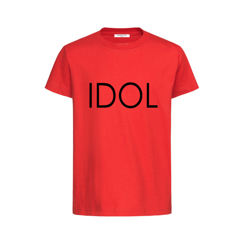 IDOL PRINTED T-shirt Red
