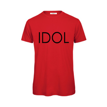 Load image into Gallery viewer, IDOL PRINTED T-shirt Red