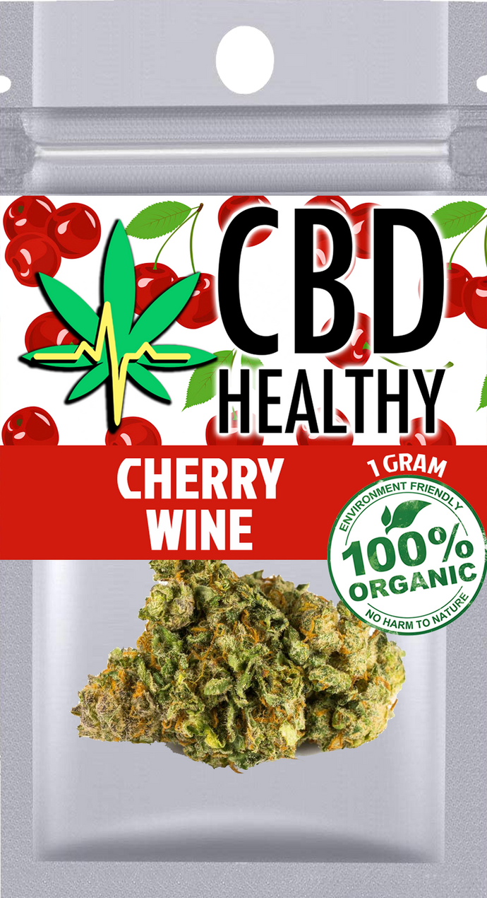 Premium Hemp Flower Cherry Wine