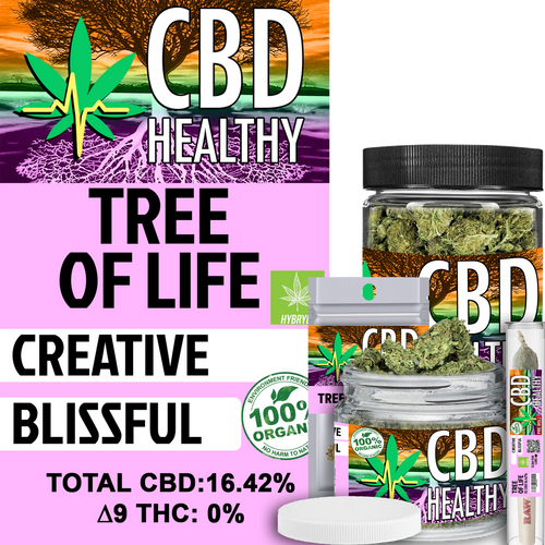 Premium Hemp Flower Tree of Life
