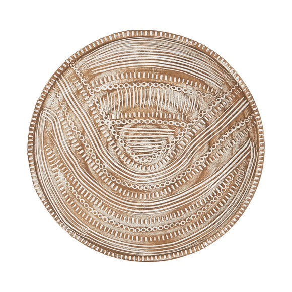 medallion wall art white