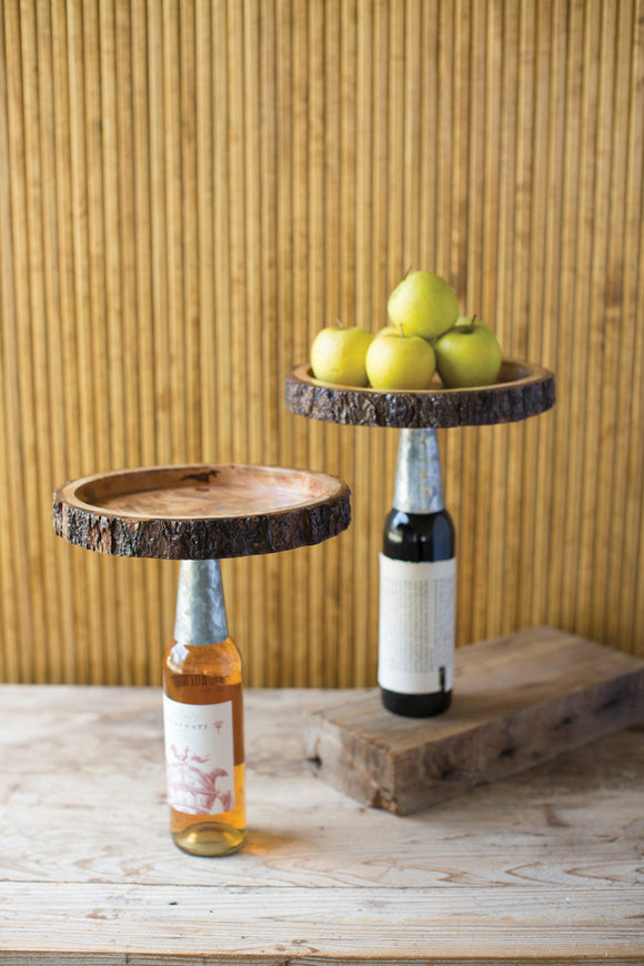 wooden and iron bottle topper