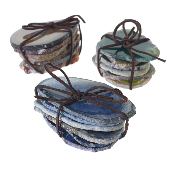 agate slices - set of six