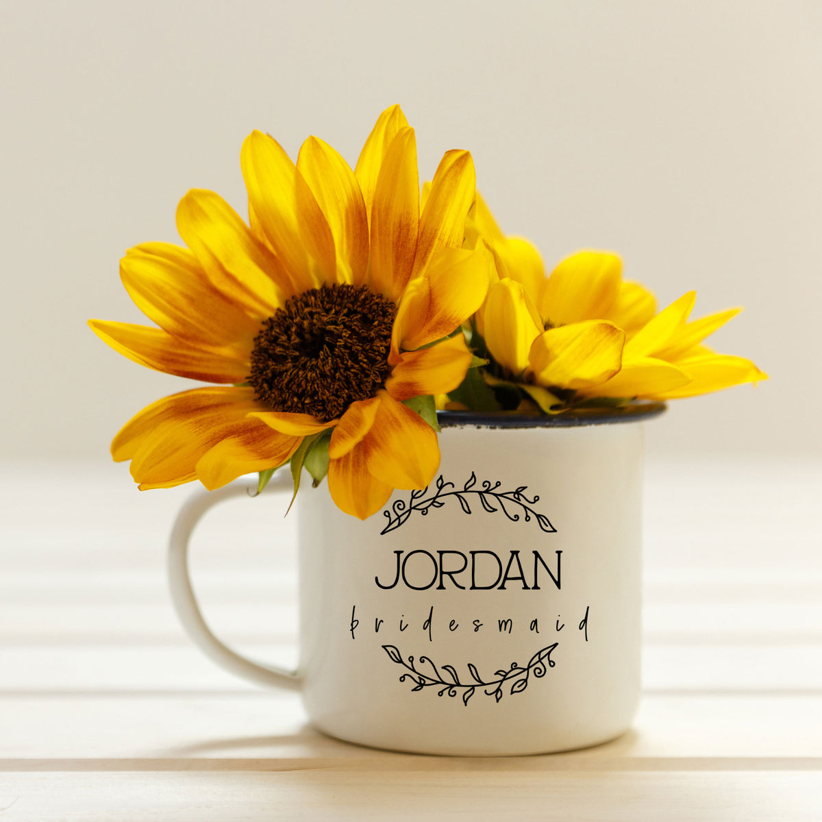 Floral Wreath Bridal Camp Mug