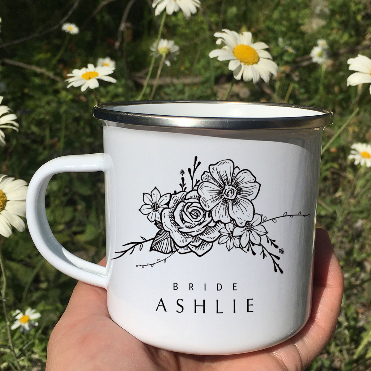 Flower Bridesmaid Gift Bridesmaid Mug Floral Maid of Honor Mug Camp
