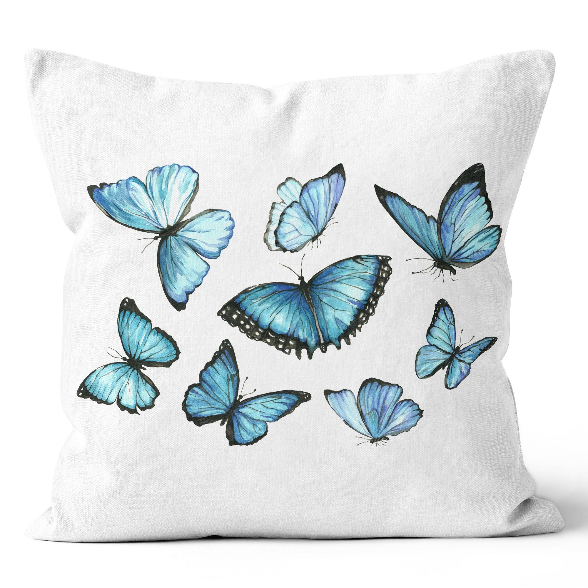 Urban Oasis Butterflies in Flight Seaglass Cushion