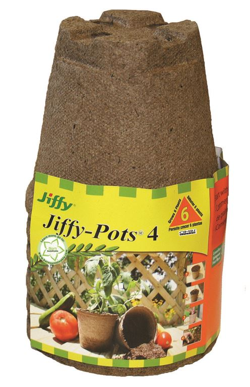 "Jiffy Peat Pots 4"" Round 6 Pack"