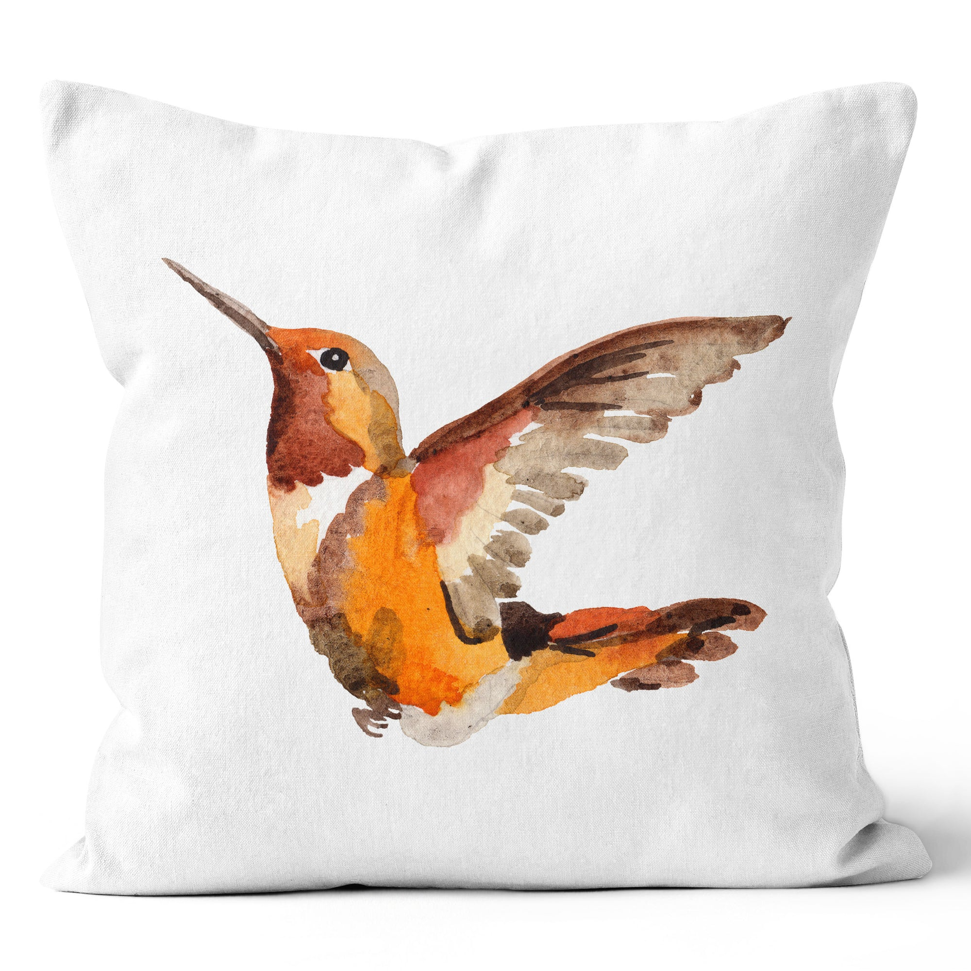 Precious Hints Hummingbird Coral Cushion