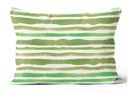 Tropical Heat Stripe Green Cushion