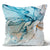 Contemporary Refuge Alabaster Aqua Peacock Cushion