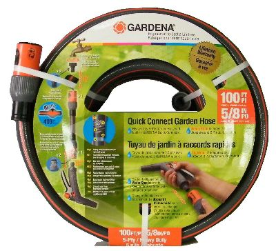 "Gardena Hose Quick Connect 5/8"" x 100'"