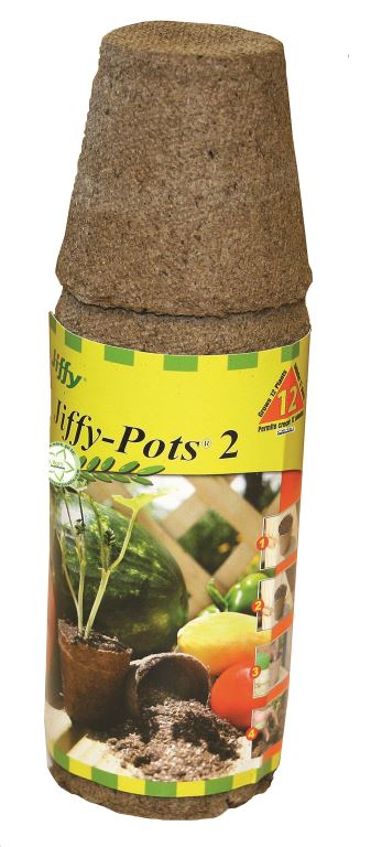 "Jiffy Peat Pots 2"" Round 12 Pack"