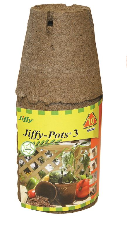 "Jiffy Peat Pots 3"" Round 10 Pack"