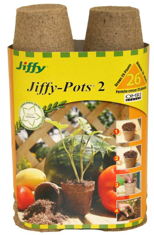 "Jiffy Peat Pots 2"" Round 26 Pack"