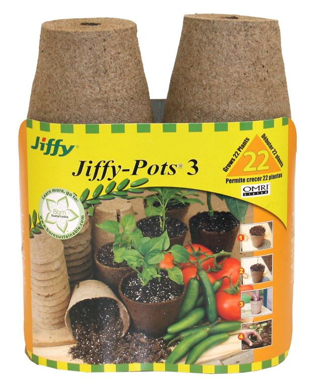 "Jiffy Peat Pots 3"" Round 22 Pack"