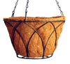 Flat Bottom Lotus Hanging Basket with Coco Liner 14""