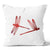 Ecotopia Dragon Flies Red Cushion