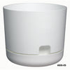 "Oasis 6"" Self Watering Planter with Saucer White"
