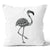 Tropical Heat Flamingo Stone Cushion