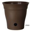 "Contempra 6 x 6""  Self Watering Planter Chocolate"