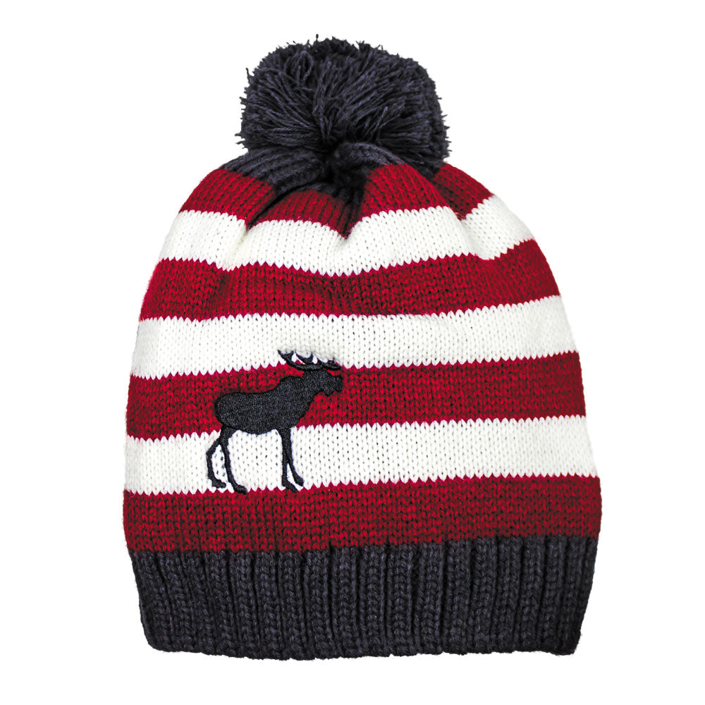 Toque Striped With Moose