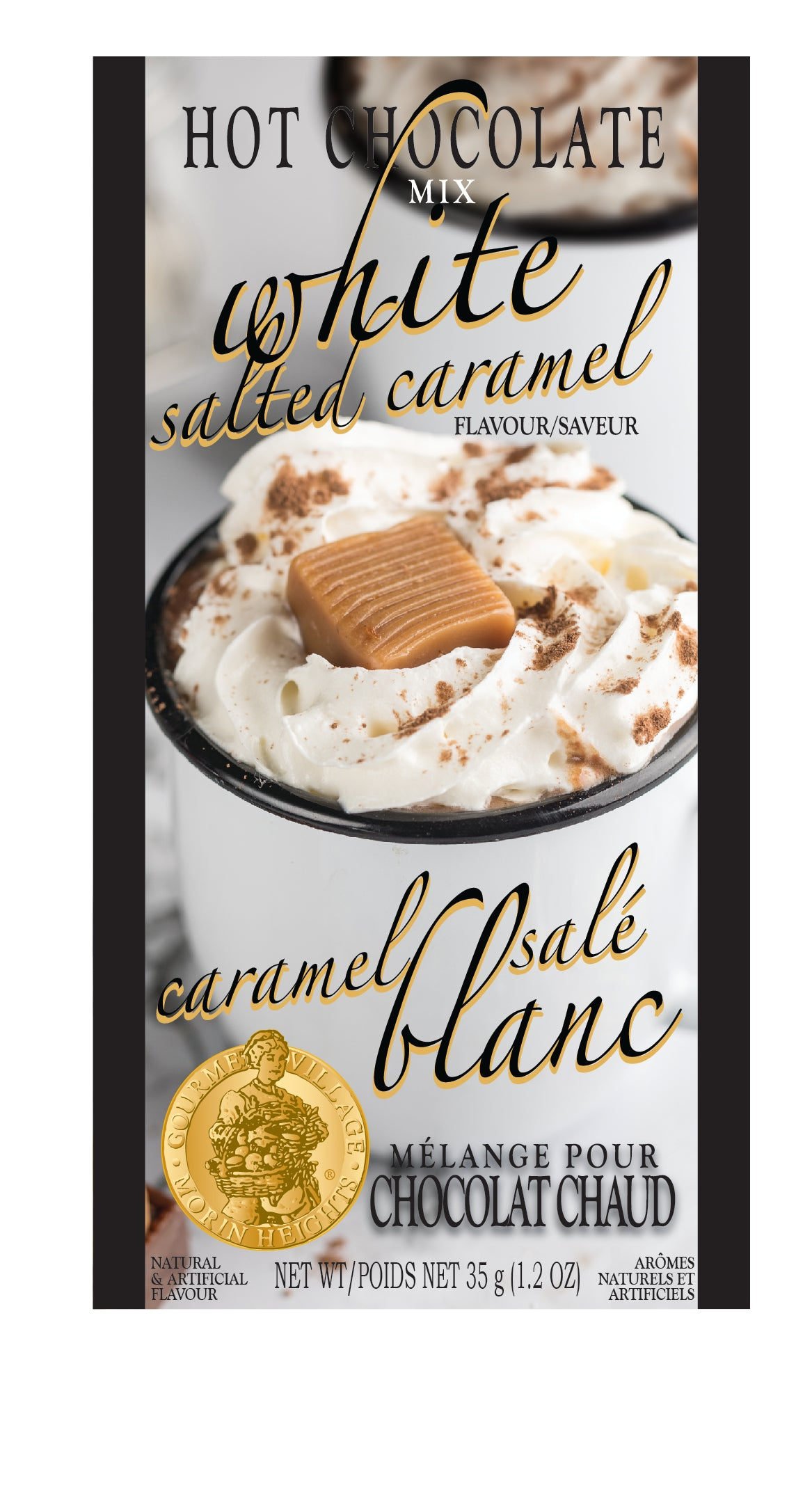 White Salted Caramel Hot Chocolate Single Serve