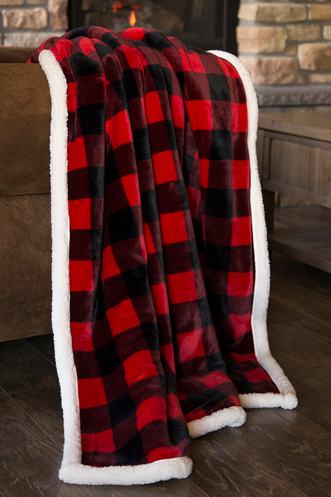 Lumberjack Plaid (RED) Throw