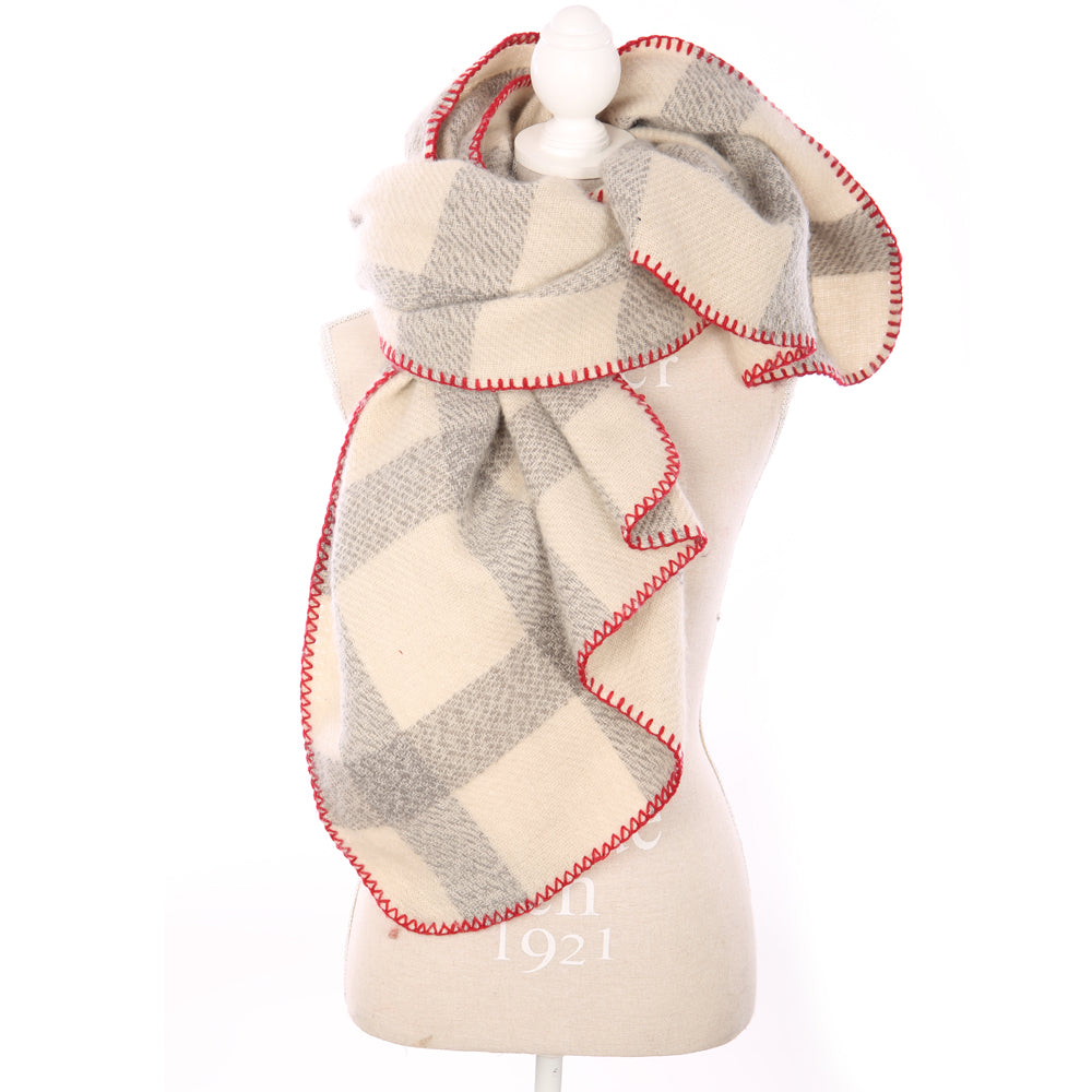 Plaid Ivory Scarf