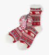 Fair Isle Bear Women's Socks In Ball
